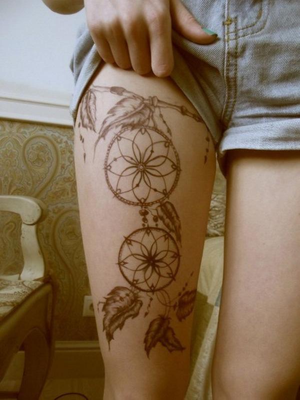 50 Sexy Leg Tattoo Design For Women