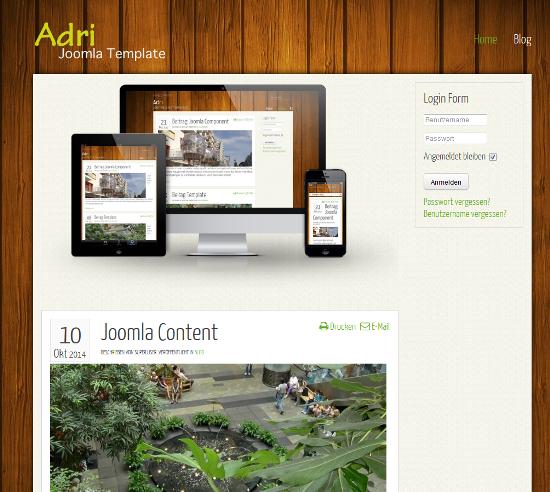 Adri Responsive Joomla 3.0 Template