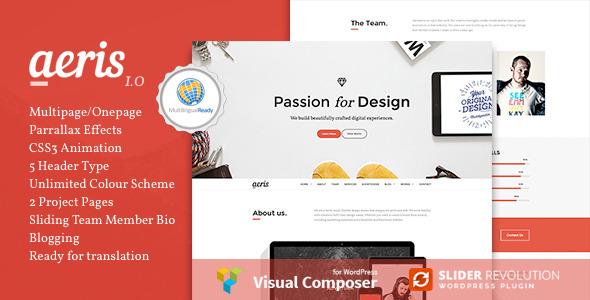 Aeris - Creative Parallax WordPress Theme
