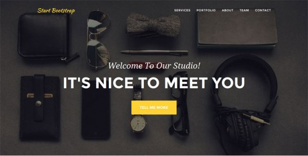 Agency – Free HTML Bootstrap Template