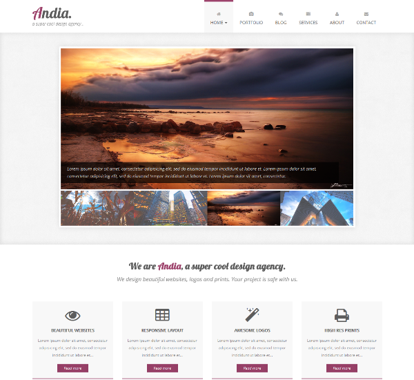 Agency Portfolio – Free Template built with Twitter Bootstrap