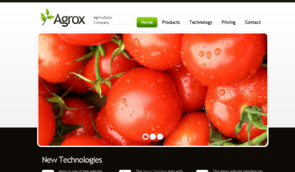 Agro – Agriculture HTML5 CSS3 Theme with jQuery Fade Slider