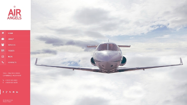 Airplane Company Website Template