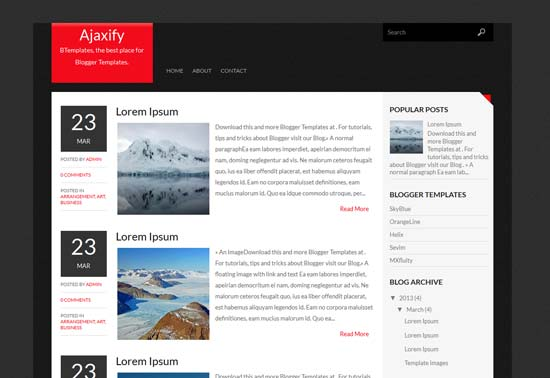 Ajaxify-Free-Blogger-Template