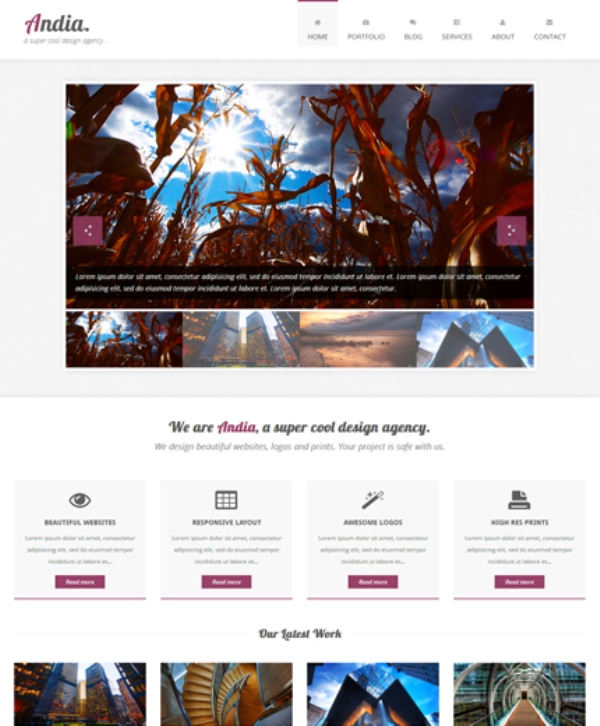155 free responsive html5 css3 website templates for Free bootstrap portfolio template