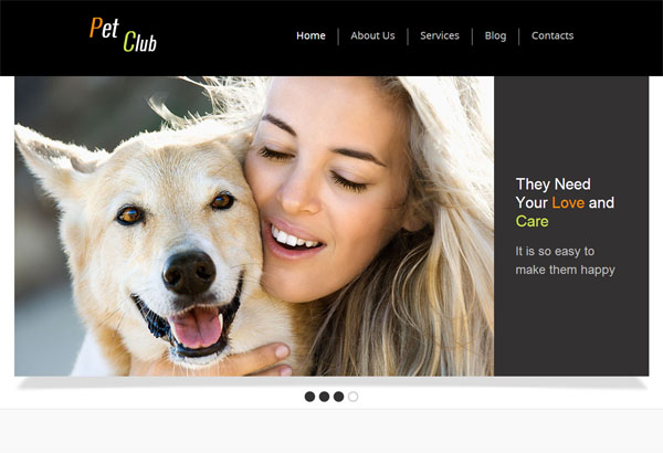 Animals – HTML5 CSS3 Pet Club Template