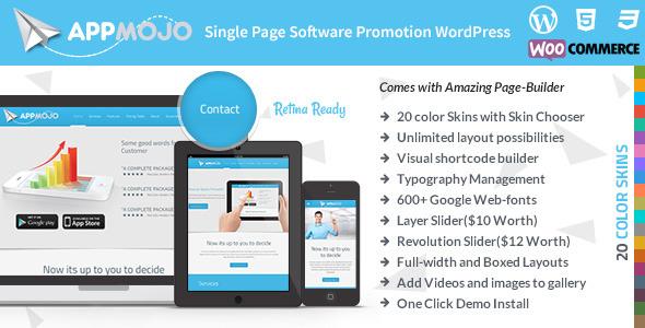 App Mojo - Responsive Single Page Promotion Theme
