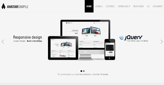 Avatar Simple – responsive Joomla template