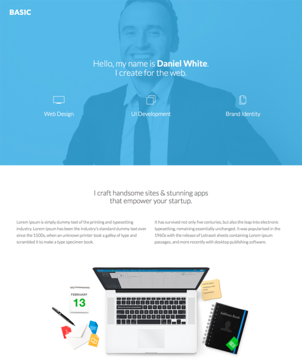 Basic – Personal Page Bootstrap Template