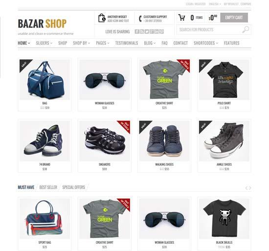 Bazar-ShopMulti-Purpose-e-Commerce-Theme