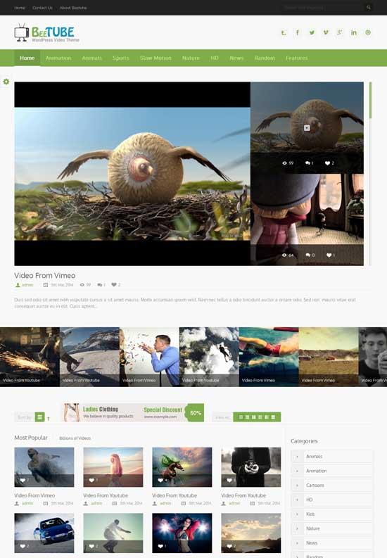 BeeTube-best-wordpress-theme-march-2014
