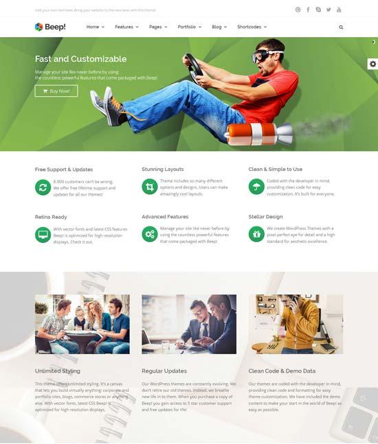 Beep-Responsive-Multi-Purpose-Wordpress-Theme