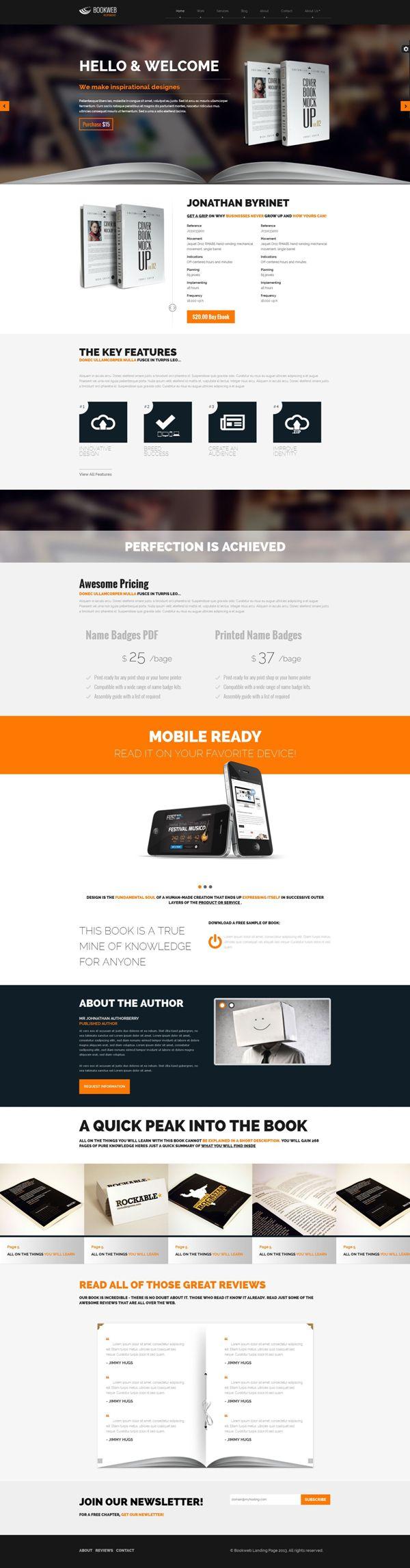 Bookish – Landing Page WP Theme