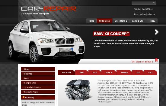 Car Repair Joomla 2.5