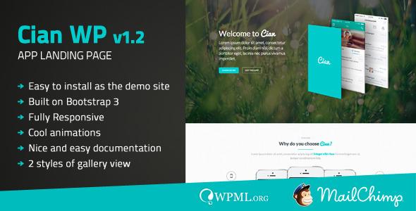 Cian - App Landing Page WordPress theme