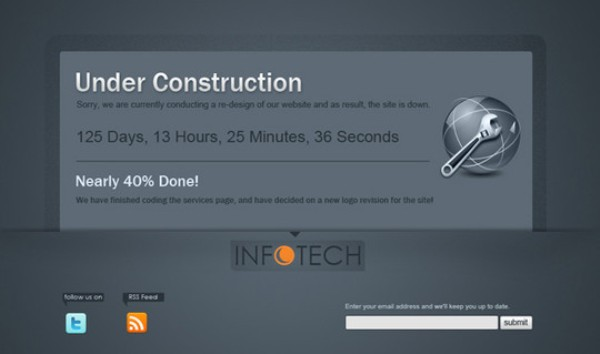 Clean Under Construction Template