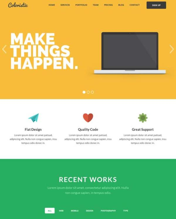 Coloristic-Flat-OnePage-Responsive-Template