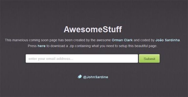 Coming Soon Page in CSS3