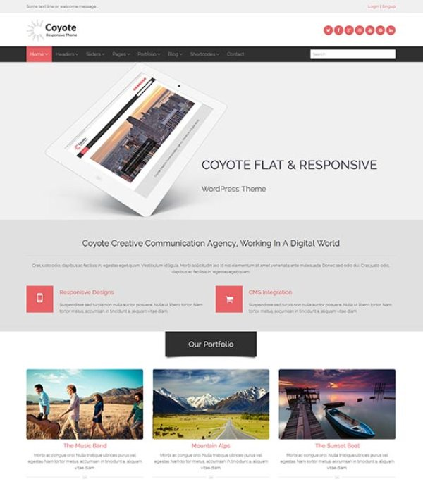 Coyote-flat-clean-design-template