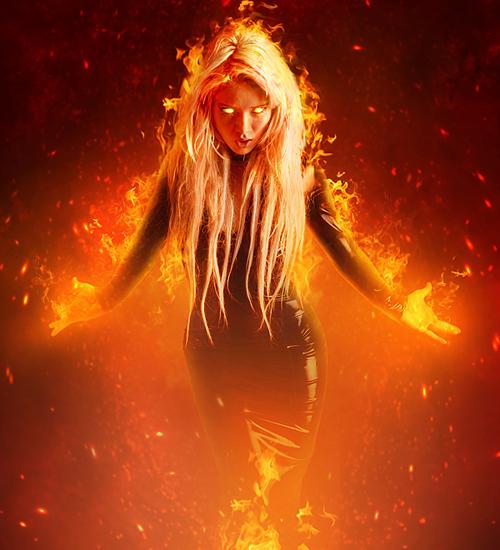 Create a Fantasy Fiery Portrait Photo Effect in Photoshop