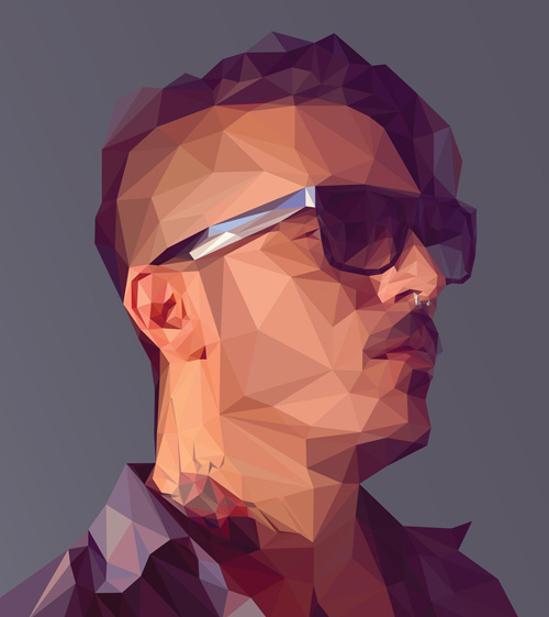 Create a Low-poly Portrait in Adobe Illustrator and Photoshop Tutorial
