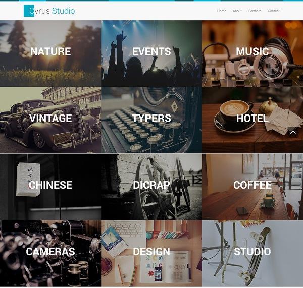 Cyrus Studio – free bootstrap portfolio theme