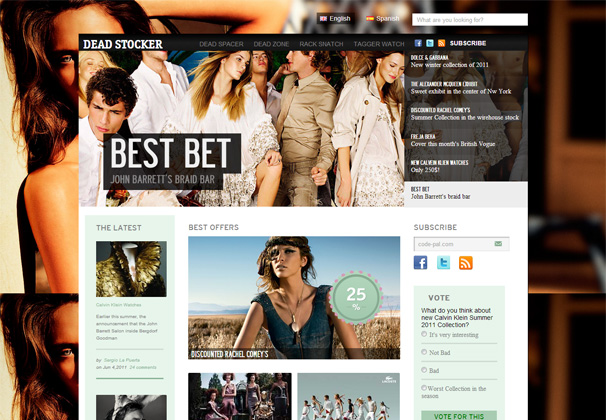 Dead Stocker – Free Magazine Style HTML5 CSS3 Responsive Template