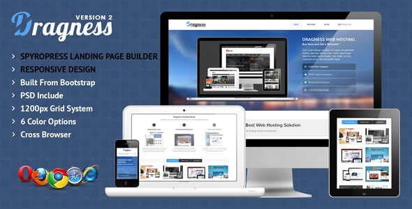 Dragness – Premium Landing Page WordPress Themes