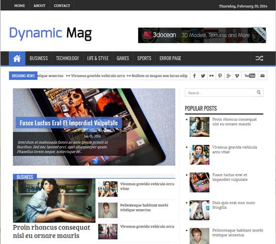 Dynamic-Mag-Responsive-Blogger-Template
