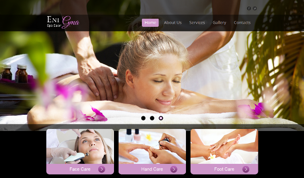 Elegant Design HMTL5 CSS3 Template for Spa Salon Site