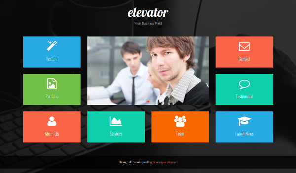 Elevator – Free Metro UI Inspired Bootstrap Template