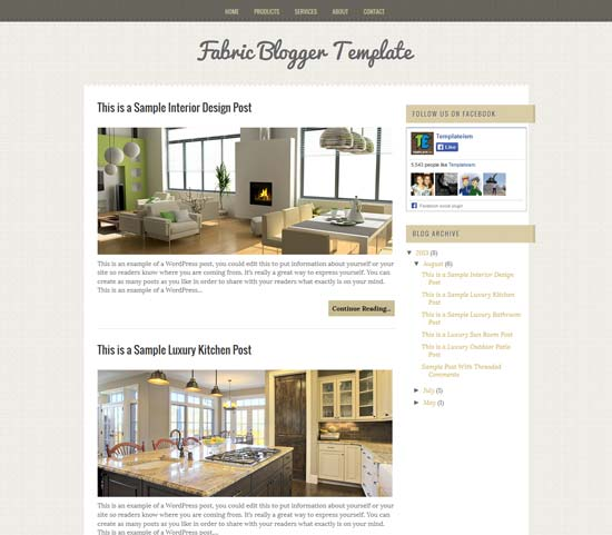 Fabric-Free-Blogger-Template