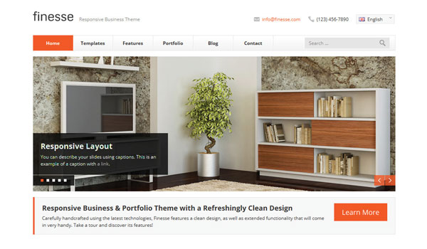 Finesse Business WordPress Theme