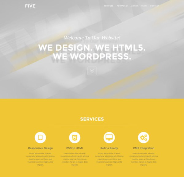 Five – Free One Page Bootstrap Template