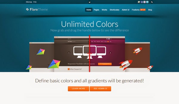 Flare Business WordPress Theme