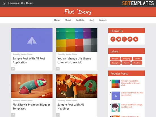 Best Free Responsive Blogger Templates - Timeline blogger template