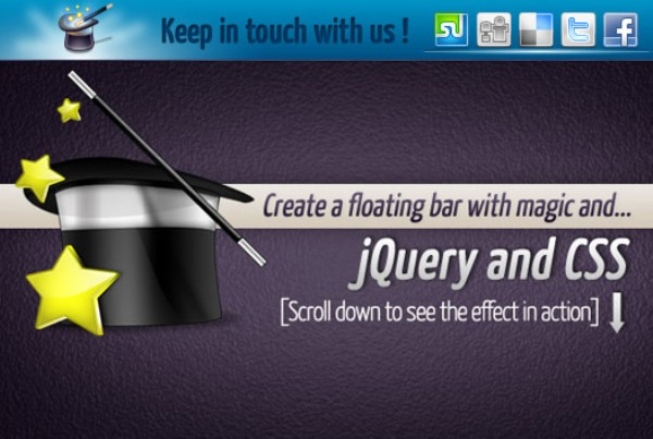 Floating Social Toolbar With jQuery And CSS