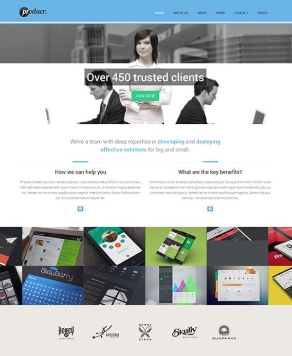 Folio-HTML-Flat-template