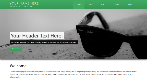 Free Business Responsive Bootstrap Template