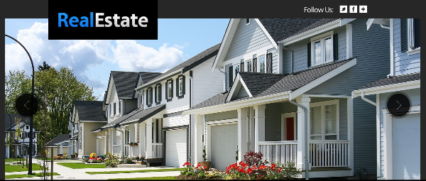 Free Real Estate HTML5 CSS3 Template with Slider