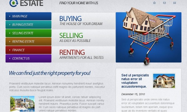 Free Real Estate HTML5 Website Template