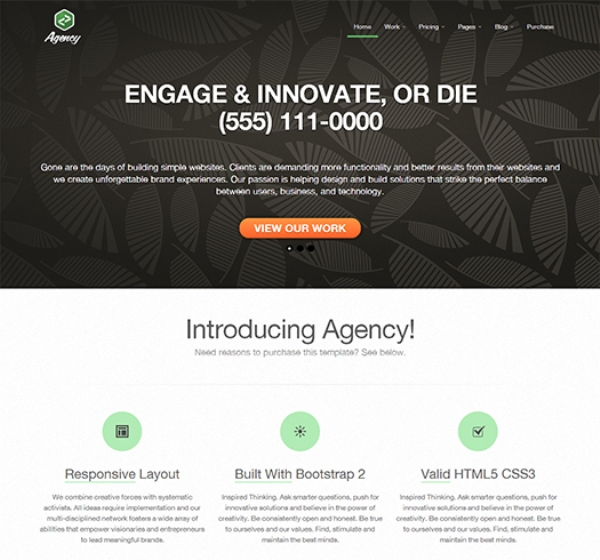 95 best free bootstrap html5 website templates free responsive twitter bootstrap business agency template cheaphphosting Image collections