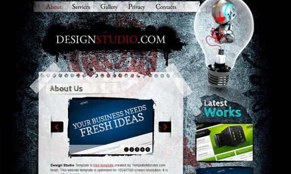 Free Web Design Studio HTML5 CSS3 Template