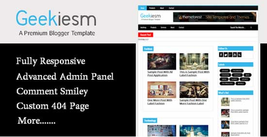65+ Best Free Responsive Blogger Templates