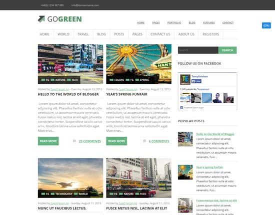GoGreen-free-Blogger-Template