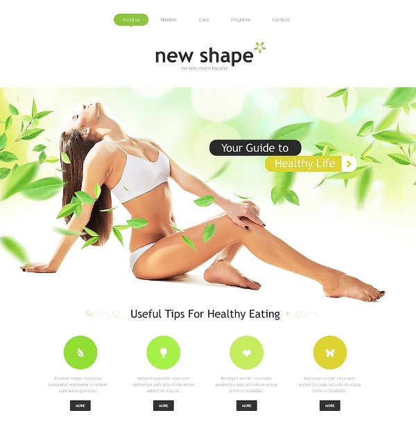 Healthy Way of Life Website Template
