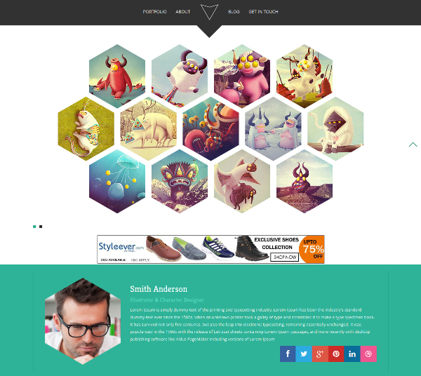 Hexa – Free Portfolio Bootstrap Template