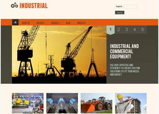 Industrial-Responsive-Template