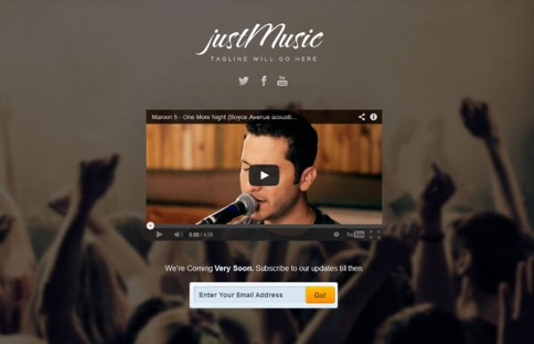 Just Music Under Construction Template