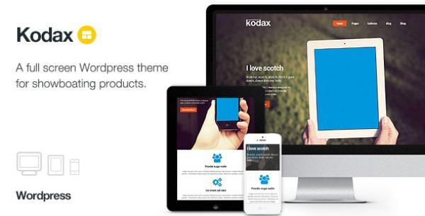 Kodax – Full Screen Landing Page